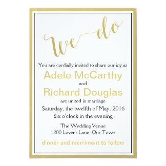 Nós fazemos o casamento chique moderno convite 12.7 x 17.78cm