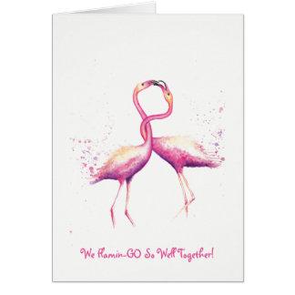Nós flamingo tão bem junto! Cartão de cumprimentos