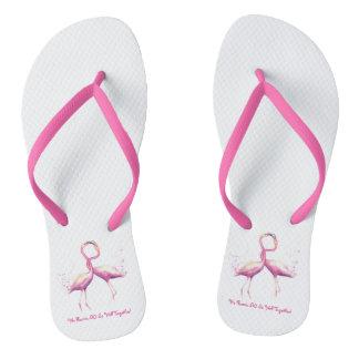 Nós flamingo tão bem junto! Chinelos