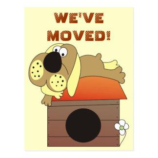 Nós movemo-nos! Cartão bonitos do cão
