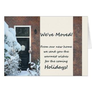 Nós movemo-nos - cartão de Natal novo do endereço