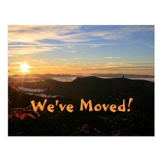 Nós movemo-nos Mudança do endereço do nascer do Cartoes Postais
