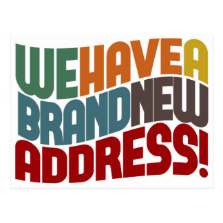 Nós movemos a mudança de endereço cartoes postais