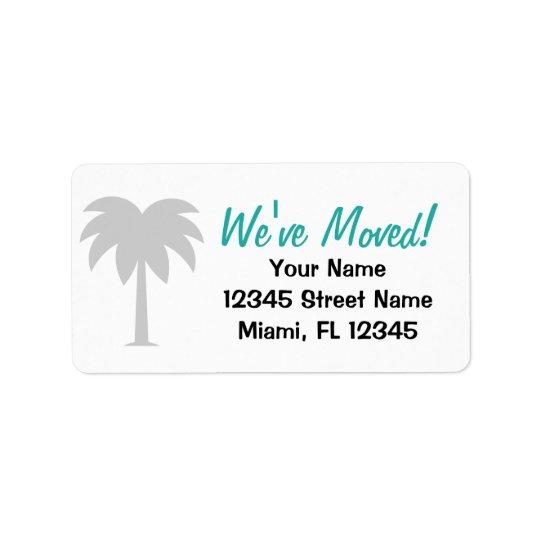 Nós movemos a mudança de etiquetas de endereço
