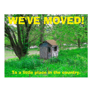 Nós movemos a mudança do cartão de endereço cartão postal