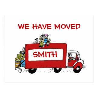 Nós movemos o cartão com camionete movente