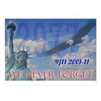 Nós nunca esquecemos aniversário 9/11 do cartão o