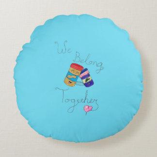 Nós pertencemos junto travesseiro decorativo almofada redonda