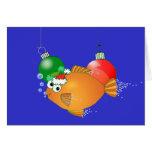 Nós pescamo-lo Feliz Natal! Cartão