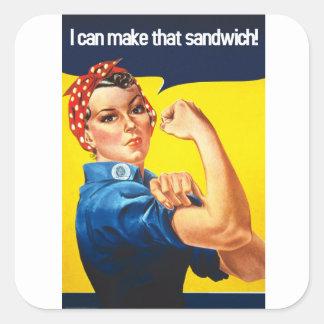 Nós podemos fazê-lo - faça um sanduíche adesivo quadrado