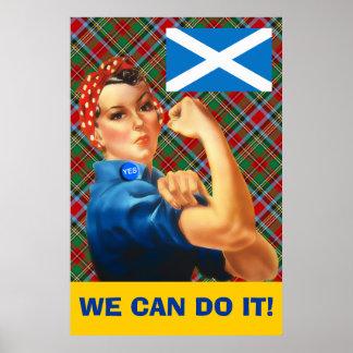 Nós podemos fazê-lo poster escocês da independênci