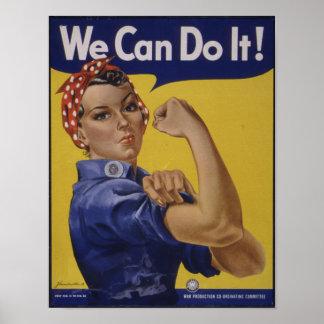 Nós podemos fazê-lo poster vintage