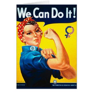Nós podemos fazê-lo! Rosie o cartão do rebitador
