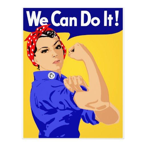 Nós podemos fazê-lo! Rosie o poster do rebitador W Panfletos Personalizado