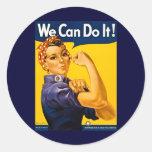 Nós podemos fazê-lo! Rosie o vintage WW2 do Adesivo Redondo