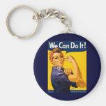 Nós podemos fazê-lo! Rosie o vintage WW2 do rebita Chaveiros