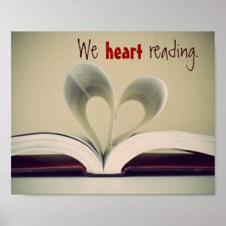 Nós poster da leitura do coração pôster