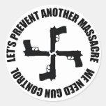 Nós precisamos o controlo de armas adesivos redondos