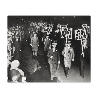 Nós queremos a cerveja! Proibição Protesto, 1931 Impressão Em Tela