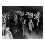Nós queremos a cerveja! Proibição Protesto, 1931 Posters