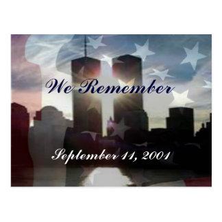 Nós recordamos o cartão do 11 de setembro