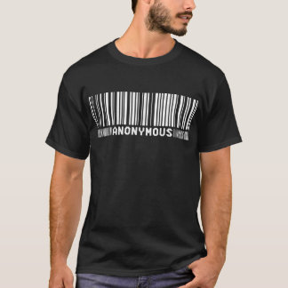 - Nós somos anónimos - camisa anónima do código de
