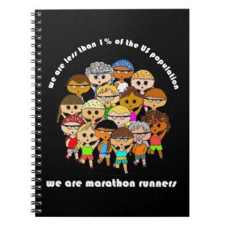 Nós somos caderno dos corredores de maratona (o