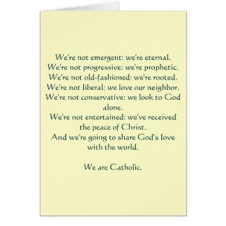 Nós somos católicos: notecard cartão de nota