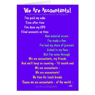 Nós somos contadores! Customisable frente e verso Cartão Comemorativo