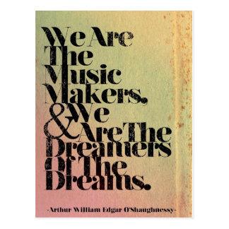 Nós somos o cartão dos fabricantes da música