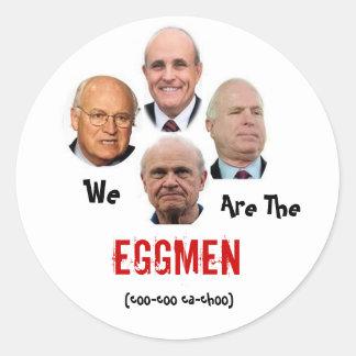 Nós somos o Eggmen Adesivo Redondo