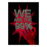Nós somos os 99% ocupamos o poster/sinal do punho
