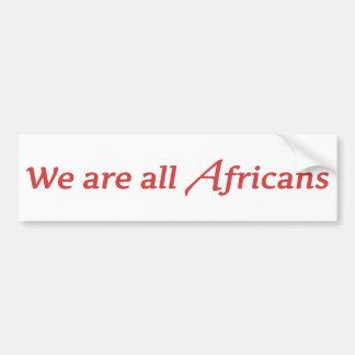 Nós somos todos os africanos adesivo para carro