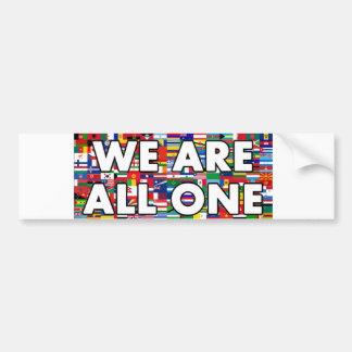 Nós somos todos os um 003 adesivo para carro