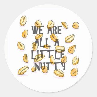 Nós somos todos os um pouco de noz - etiquetas