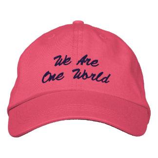 Nós somos um chapéu do mundo boné bordado