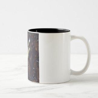 Nos sonhos caneca de café em dois tons