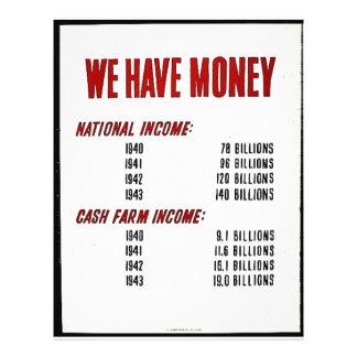 Nós temos o dinheiro panfleto coloridos