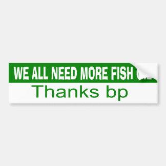 Nós todos precisamos mais óleo de peixes adesivo para carro
