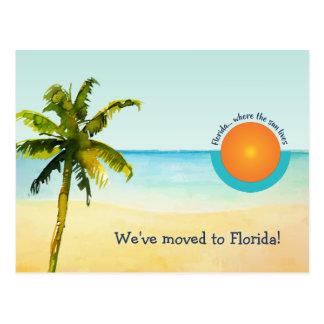 Nós transportamo-nos à mudança da cena da praia de cartão postal