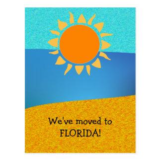Nós transportamo-nos à mudança de Florida de Cartão Postal