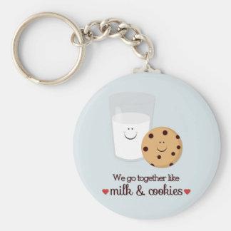 Nós vamos junto como o leite e os biscoitos chaveiro