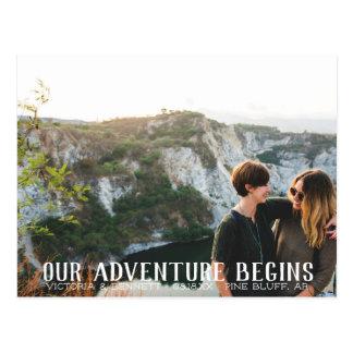 Nossa aventura começa economias de   o cartão da