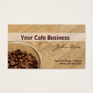 Nossa cafetaria cartão de visitas