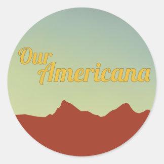 Nossa etiqueta referente à cultura norte-americana