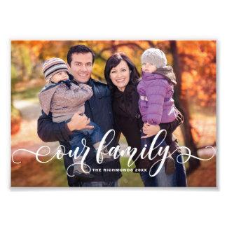 Nossa foto de família moderna da folha de prova da