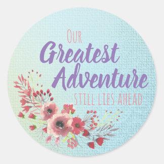 Nossa grande aventura - etiquetas