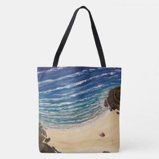 Nossa opinião superior da praia bolsas tote
