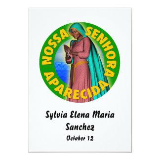 Nossa Senhora Aparecida convida Convite 12.7 X 17.78cm