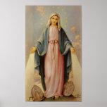 Nossa senhora da Virgem Maria abençoada rosário da Posters